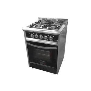 Cocina Usman Black Night 600 (7010) Acero/negro Vitrificada