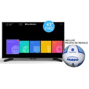 "SMART TV ASHIMA 43"" FULLHD + PELOTA DE FUTBOL PARDO"