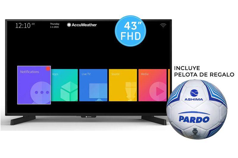 SMART-TV-ASHIMA-43--FULLHD---PELOTA-DE-FUTBOL-PARDO